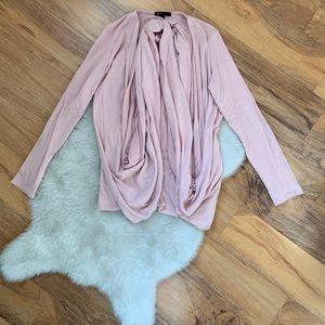 Gibson Blush Pink Convertible Wrap Top Size XS